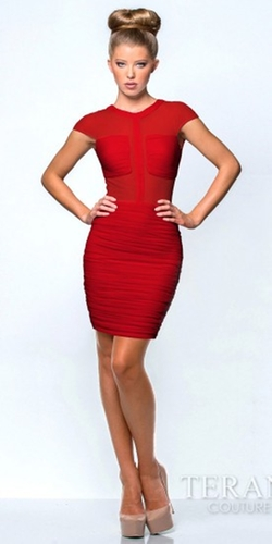 Terani Couture - Stacy Cap Sleeve Homecoming Dress