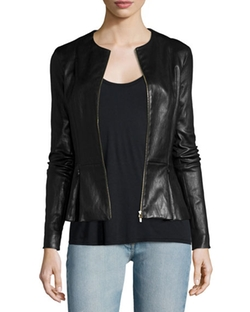 The Row  - Anasta Zip-Front Leather Jacket