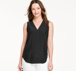 Johnston & Murphy - Sleeveless Perforated-Back Blouse