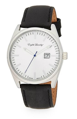 English Laundry  - Stainless Steel Leather Strap Watch