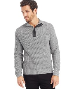 Kenneth Cole New York - Quarter-Zip Sweater