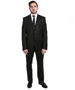 Versace  - Solid Two-Piece Wool Cotton Suit