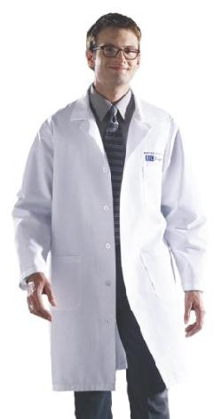 Medline  - Knee Length Lab Coat, White, Medium
