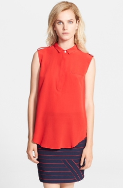 Band of Outsiders - Sleeveless Silk Shirt