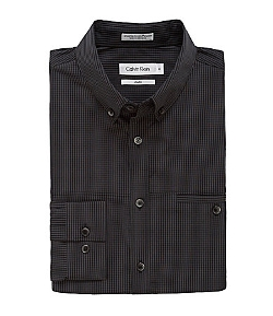 Calvin Klein  - Slim-Fit Mini-Check Gingham Sportshirt