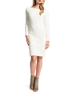Cynthia Steffe - Jude Puckered Long-Sleeve Sheath Dress