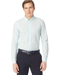 Calvin Klein - Slim Fit Textured Woven Sportshirt
