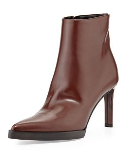 Stella McCartney   - Faux-Leather Point-Toe Ankle Boot