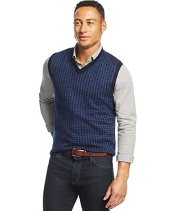 Club Room - Merino Houndstooth Vest