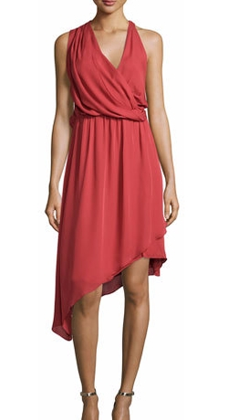Haute Hippie - Sleeveless Asymmetric Silk Dress