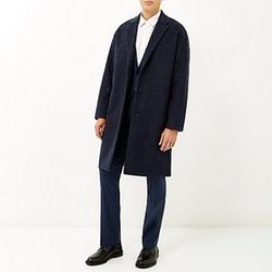 River Island - Smart Wool-Blend Overcoat