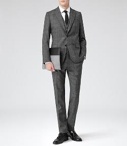 Galata  - Modern-Fit Check Suit