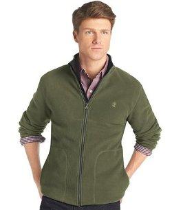Izod - Solid Full-Zip Polar-Fleece Jacket