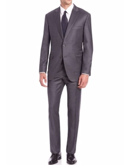 Saks Fifth Avenue Collection - Samuelsohn Solid Wool Suit