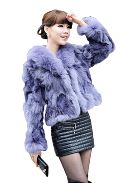 Queenshiny - Genuine Fox Fur Coat