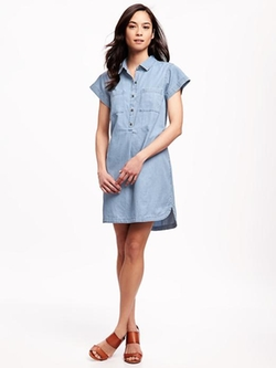 Old Navy - Chambray Shirt Dress