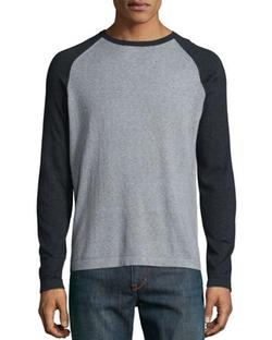 Neiman Marcus - Feeder-Stripe Raglan Shirt