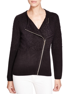 Calvin Klein - Asymmetric Textured Knit Jacket