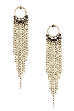 Free Press - Post Fringe Earrings