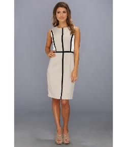 Calvin Klein  - Color Block Sheath w/ Piping Dress