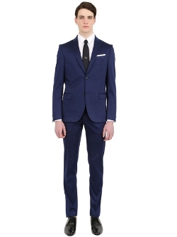 Daniele Alessandrini Grey - Stretch Cotton Satin Suit