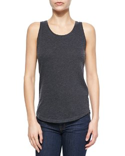 Majestic Paris for Neiman Marcus	 - Scoop-Neck Rounded Hem Tank