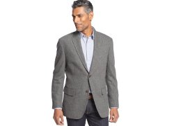 Tasso Elba  - Wool-Blend Herringbone Two-Pocket Blazer