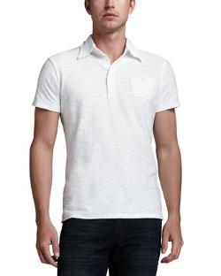 Diesel  - Tev Slub Jersey Polo, White