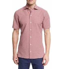 Ermenegildo Zegna - Seersucker-Check Short-Sleeve Shirt