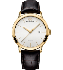 88 Rue Du Rhone - Gold-Plated And Leather Watch