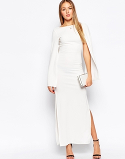 Club L - Fluted Sleeves Maxi Dress