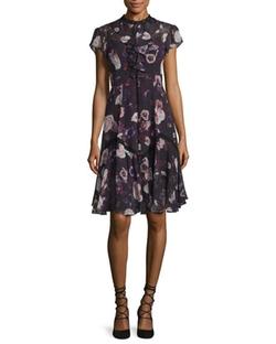 Needle & Thread - Victorian Cap-Sleeve Ruffle Dress