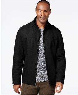Perry Ellis - Wool-Blend Zip-Front Jacket