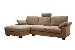 Baxton Studio  - Priscilla Tan Twill Fabric Modern Sectional Sofa