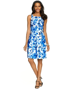 American Living - Floral-Print Pleated Dress