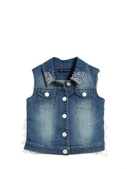 Blumarine Jeans - Embellished Denim Vest