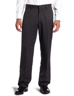 Haggar - Mens Textured Stripe Plain Front Pant