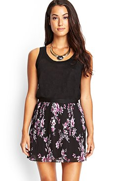 Forever21 - Pleated Floral Chiffon Skirt