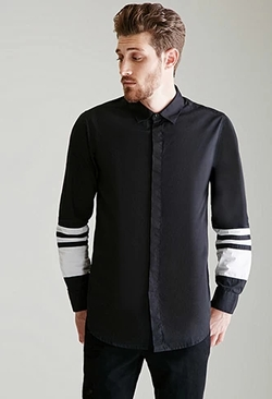 21 Men - Contrast Button Down Shirt