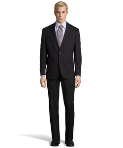 Kenneth Cole - Notch Lapel Black Suit