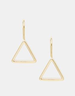 Asos Collection - Triangle Through Earrings