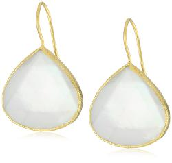 Coralia Leets Jewelry Design  - Pearl White Fresh Water Mother-Of-Pearl Doublets Earrings