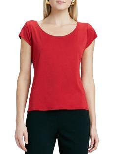 Eileen Fisher   - Silk-Jersey Cap-Sleeve T Shirt