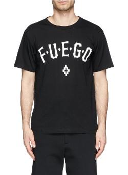 Marcelo Burlon - Fuego Text Print T-Shirt