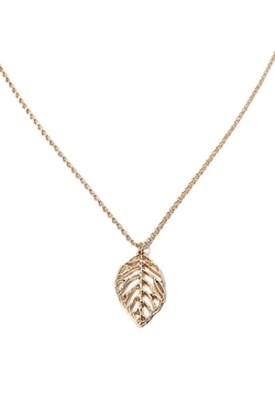 Forever 21 - Leaf Pendant Longline Necklace
