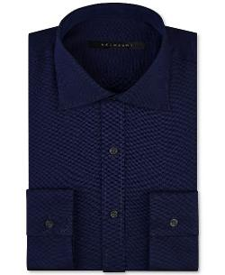 Sean John - Navy Solid Dress Shirt