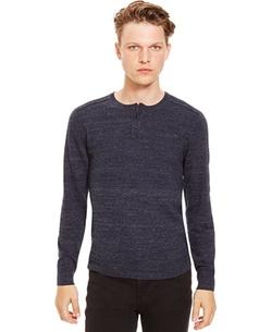 Kenneth Cole Reaction - Slub Henley Sweater