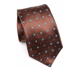 Kiton - Circle Patterned Silk Tie