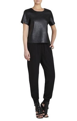 BCBGMAXAZRIA - Beata Short Sleeve Oversized Top