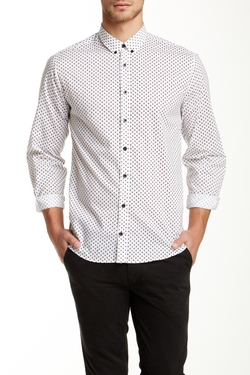 Lindbergh - Polka Dot Long Sleeve Modern Fit Shirt